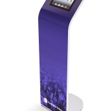 Alur iPad Kiosk Magnetic Graphic Stand Front Gate Tickets