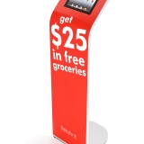 Alur iPad Kiosk Magnetic Graphic Stand Presidents Choice