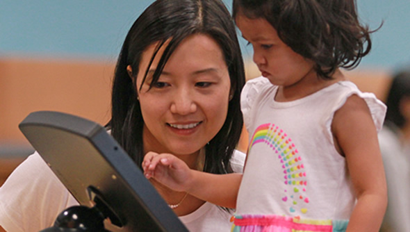 Teaching Children with Tablet Kiosks