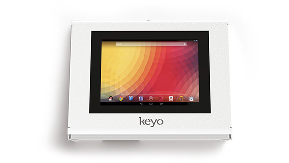 Armodilo Keyo Tablet Kiosk POE Secure Wall Counter Mount s2
