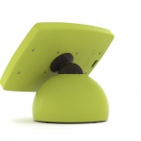 The Armodilo Original Sphere secure desktop tablet POS stand and kiosk enclosure in Fusion Green.