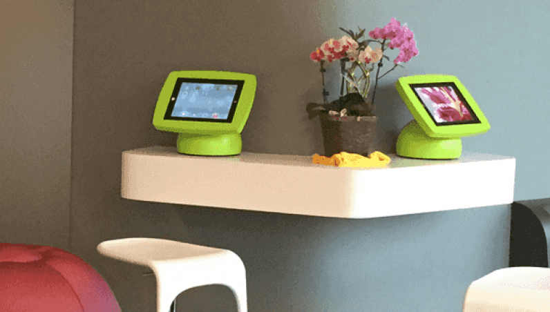 HappyPediatric Armodilo Case Study iPad Tablet Kiosk Enclosure