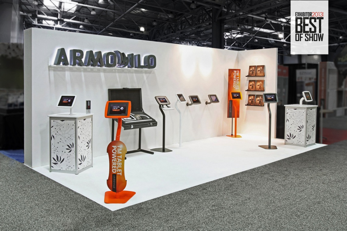Exhibition Stand Awards : Armodilo ipad kiosks earn best of show quot at exhibitor